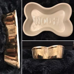 new Arrival!! Vintage styleSpots Diner Doggy bowl